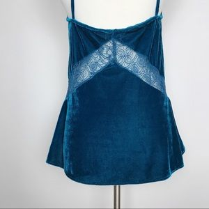 Urban Outfitters Tops - UO   Kimchi Blue Teal Velvet Lace Swing Tank Sz L